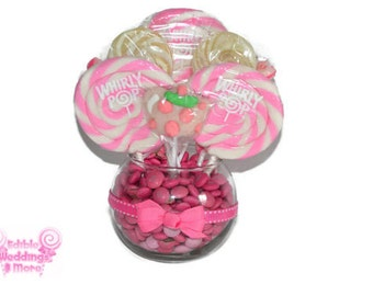 Pink Teapot Lollipop Candy Centerpiece, Candy Centerpiece, Tea Party Centerpiece, Lollipop Birthday, Centerpiece, Lollipop, Pink, Birthday