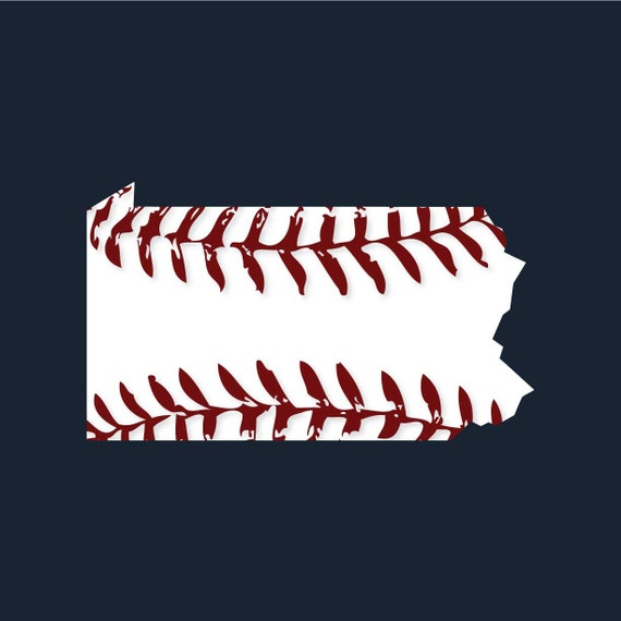 Pennsylvania baseball t-shirt available in men's or ladies jr fit