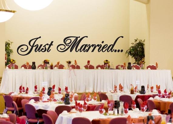 just married wedding wall decor vinyl sticker decal