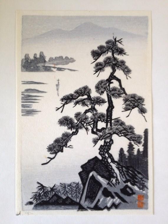 Handmade Japanese Color Woodblock Woodcut Block Print
