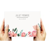Blooming Flowers Flat Notes & Calling Cards