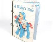 Baby boy scrapbook /  premade mini album  / scrapbook album kit / vintage / retro