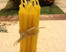 Beeswax Birthday Candles (set of 12)