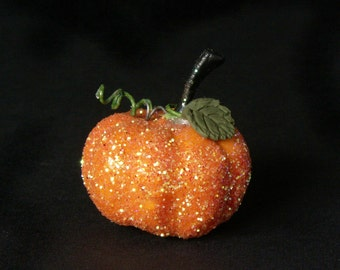 Charming Orange Miniature Pumpkin for Your Dollhouse