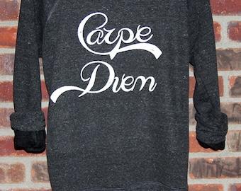 Carpe Diem Wideneck Slouchy Pullover, Yoga Top, Sizes SMALL-XXLARGE