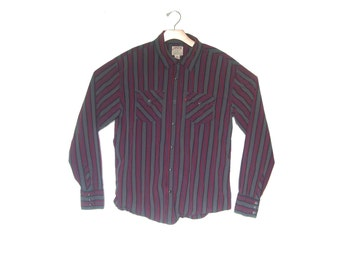 Vintage Levis Western Striped Shirt Men's Large