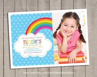 Rainbow Birthday Invitation / Rainbow invitation / Rainbow Party Invitation / Rainbow Invite / Printable DIY