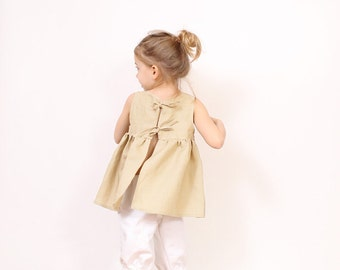Nikka toddler TUNIC pattern pdf - easy children sewing patterns for girls - from 3T to 10 years