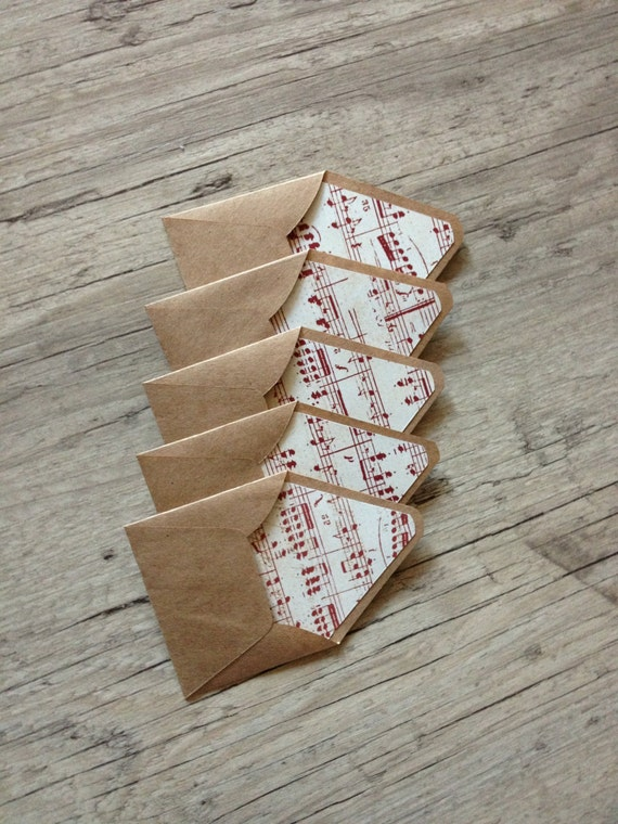 Vintage paper tiny envelopes