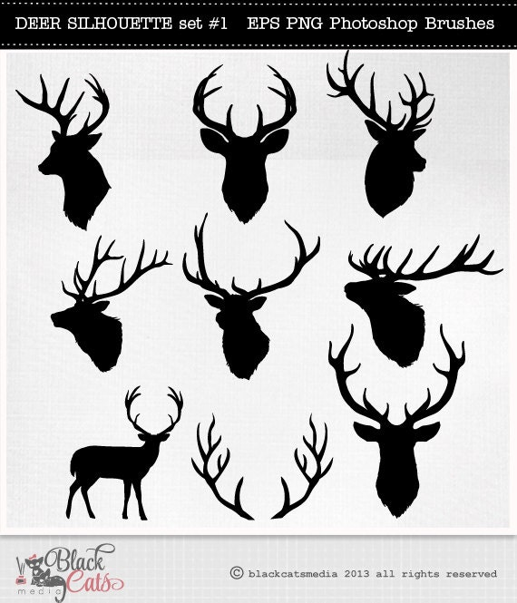 Gallery For gt Deer Head Antlers Silhouette