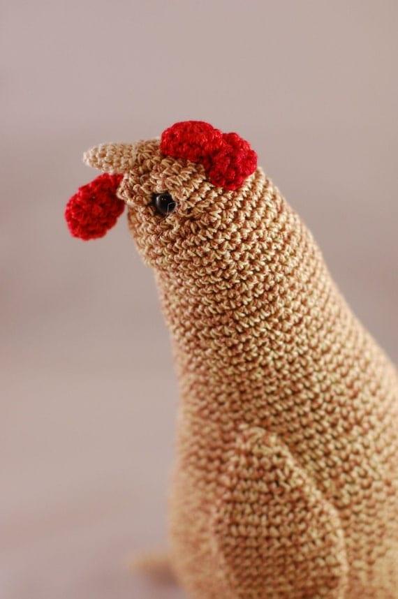 Items similar to Amigurumi Hen, Crochet Chicken doll on Etsy