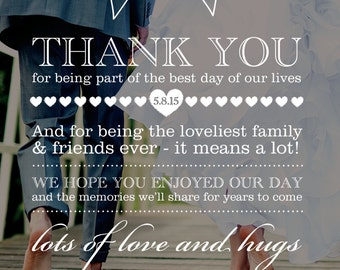 Customised Wedding Thank You Card Design
