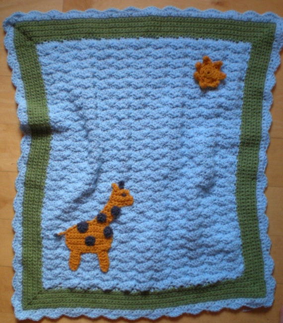 Free Giraffe Crochet Afghan Pattern : Items similar to Giraffe in the Sun - Crochet Baby Blanket ...