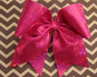 Hot Pink Shattered Glass Cheer Bow