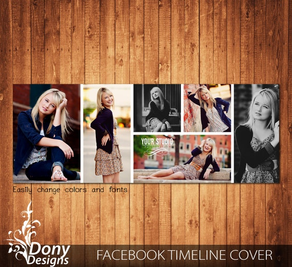 Facebook Cover Photo Collage ~ Facebook timeline cover template photo collage by donydesigns
