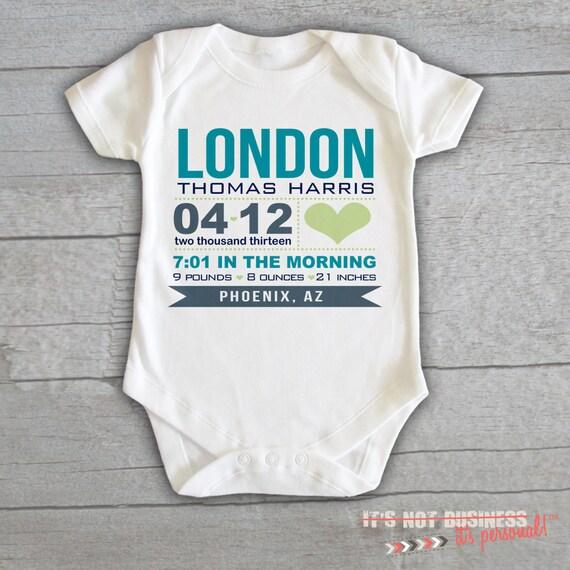 Baby Onesie Birth Baby Announcement by itsnotbusinessshop ...