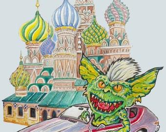 Gremlin in a Gremlin -- 8.5x11 Art Print