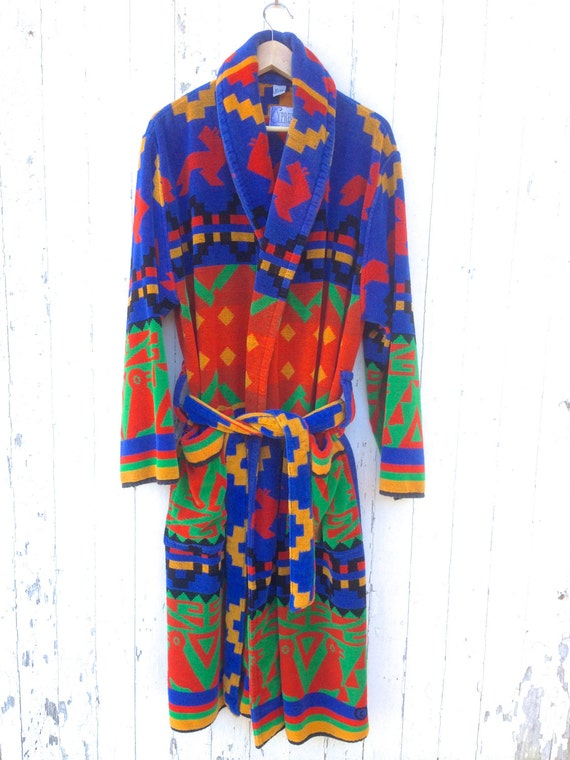 Terry Cloth Robe Southwest Blanket Print By Cypress Bright