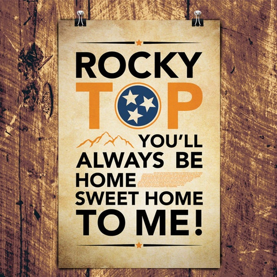 "Rocky Top Graphic Print - 11"" x 17"" Digital"