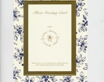 Christmas Photo Cards Winterberry Soft Black Toile Foil-embossed 6x8 Box of 10 by Audrey Ascenzo