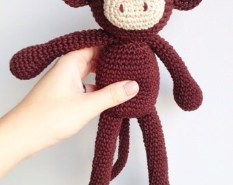 Monkey Plush, Monkey Stuffed animal, Monkey Plushie, Monkey Stuffed Toy, Crochet Monkey