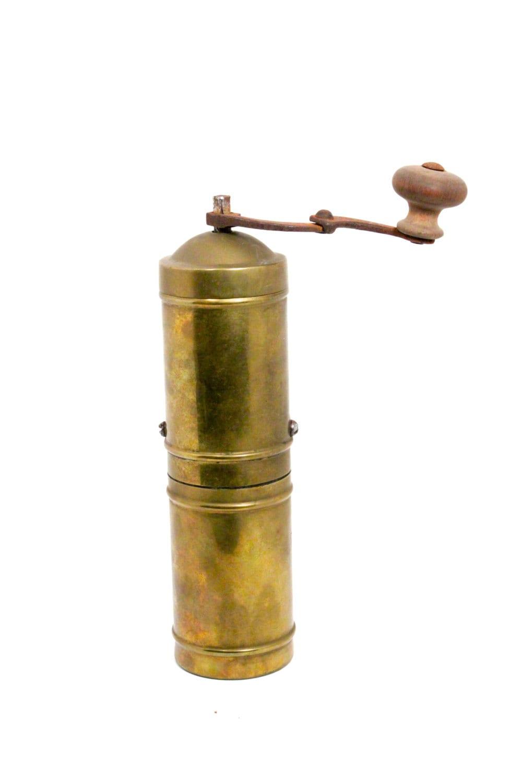 Pepper Mill Grinder Vintage Turkish Brass Grinder