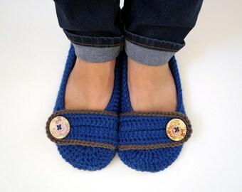 Crochet Women's Slippers, non slip soles