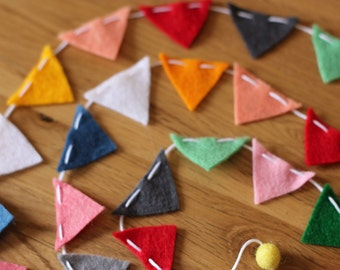 Mini Felt Flag Garland