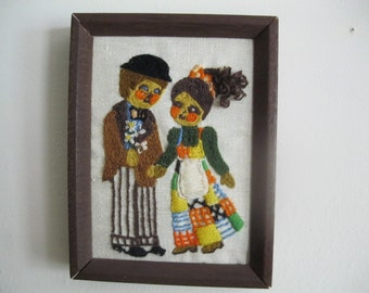 Items Similar To Etsy Sale Jan Hagara Crewel Embroidery Kit Vintage 1990 Sunset Dimensions Addie