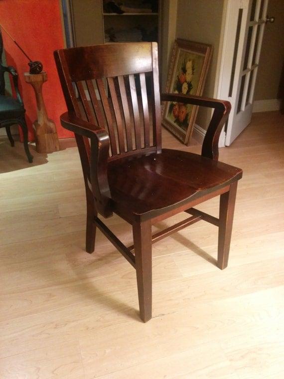 Pierce  Son Co antique oak office chair