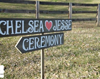 Ceremony Sign, Personalized Wedding Sign, Wooden Wedding Sign, Rustic Wedding Sign, Wedding Ceremony Decor, Coral Wedding Decor, Wood Sign