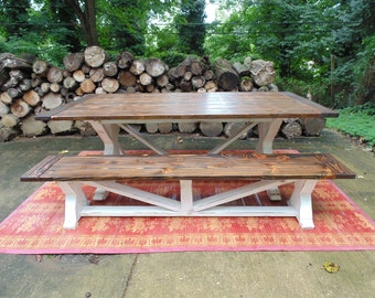 Dining Table, Farmhouse, Reclaimed Wood, Custom, Handcrafted, Handmade, Wood Table, French Country, Rustic, Solid Wood, Kitchen Table