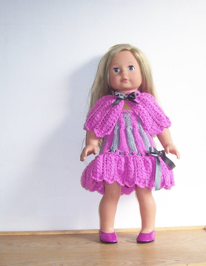 Dolls Clothes, American Girl PDF knitting pattern for 18 ...