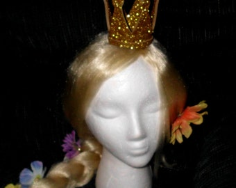 Crown, Double Glitter,  Queen of Hearts, Mini, Tiny, Sparkle, Princess, Headband, Burlesque, Princess Peach, Child, Adult, Kid