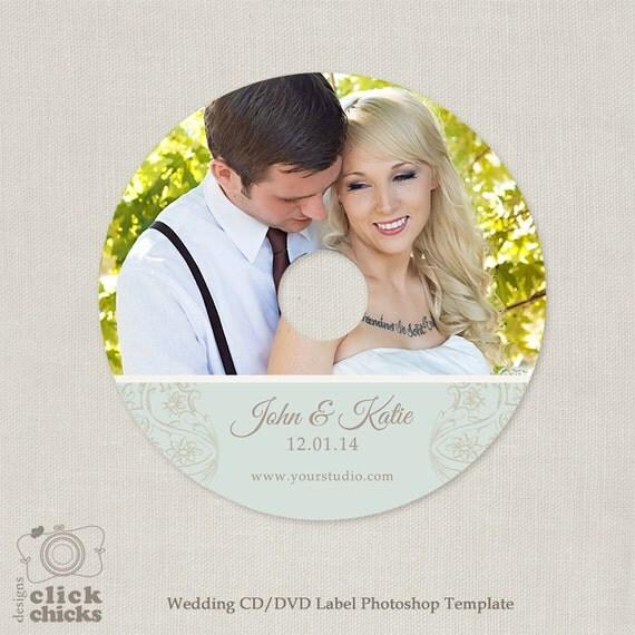 wedding cd  dvd label template c120 instant download