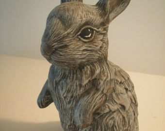 Cute outdoor bunny rabbit statue gifts for her Realistic Bunny figurine patio decor Hippity Hoppity Easter bunny gifts for kids Lop eared