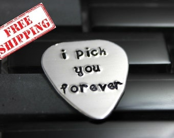 "Anniversary Gifts for Men / Custom Guitar Pick ""I Pick You Forever"" / Personalized Guitar Pick / Men's Gifts / Father's Day Gift"