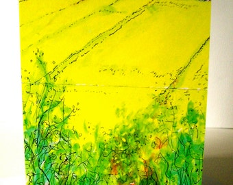 The Yellow Field Greetings Card