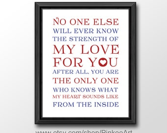 strength of my love print, baby nursery quotes, no one will ever know nursery wall quote, baby quotes, nursery subway art, kids wall art