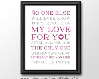 baby nursery quotes, no one else will ever know baptism gift, nursery wall saying, baby nursery decor, nursery wall art, kids quote print