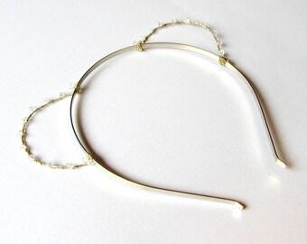 Silver Crystal Bear Ears Headband, Wire Teddy Bear Ears With Swarovski Elements, Costume Ears, Bachelorette Accessory, Kawaii Alice Band,