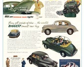 Classic Morris Minor poster reproduced from the original 1953 brochure
