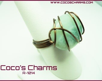 Teal Stone Ring - R-1014
