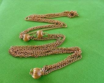 Vintage 50 Inch (127 cm) Gold-tone Chain Necklace (Item 482)