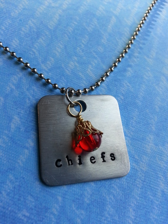 items similar to kansas city chiefs hand stamped
