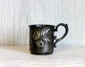 SALE silver baby cup // antique quadruple silver plate // etched child's cup // silverplate silverplated