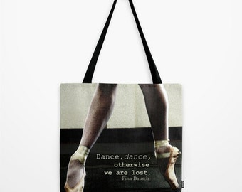 Pointe Tote Bag, Ballet Tote Bag, Accessories, Canvas Tote, Shoulder Bag, Fine Art Photography
