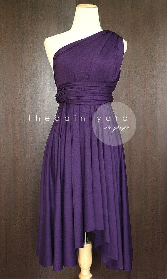 Grape Bridesmaid Convertible Dress Infinity Dress By