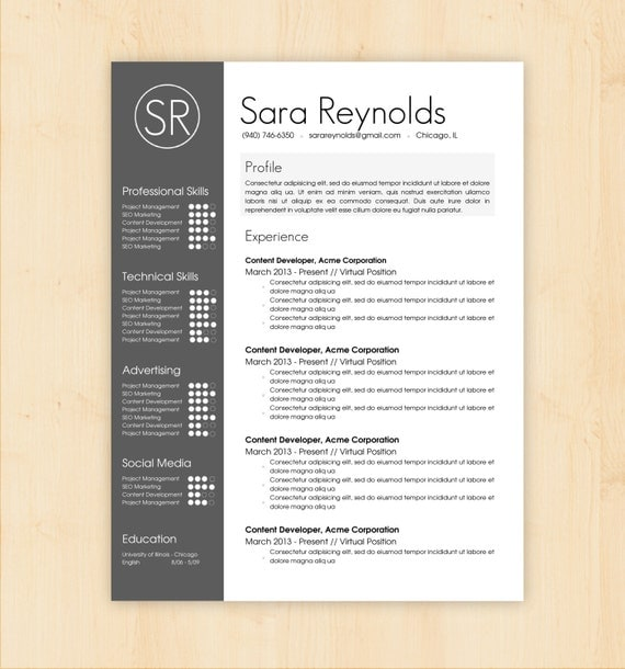 87 Extraordinary Professional Resume Templates Word Free. Resume