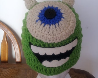 monsters inc character hand made crochet beanie
